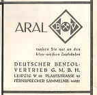 BV advert from 1930s Leipzig map