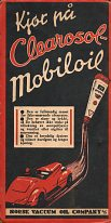 Mobiloil advert from rear cover of 1936 KNA map of Norway