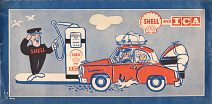 Shell advert from rear cover of 1957 KNA map of Norway