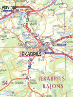 Map extract from 2006 Jana Seta map of Latvia with Virsi-A and Lukoil locations