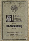 Shell advert on rear cover of 1927 Wagner map of Austria