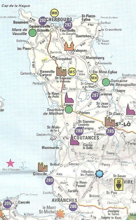 Hypermarket service station road maps from France