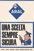 Rear advert from 1963 Aral map of Northern Italy for ACM members