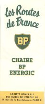 1954 BP Energic map booklet of France