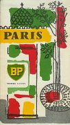 1958 BP leaflet guide to Paris