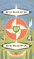 1959 BP Touring Kit: map of Europe
