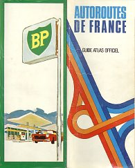 1969 BP Map of French Autoroutes
