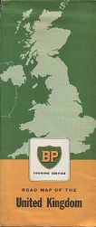 1957 BP Map of Great Britain
