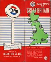 ca1959 Regent Road Maps of Great Britain