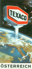 1970s (?) Texaco map of Austria