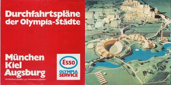1972 Esso map of German Olympic Cities