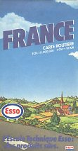 1983 Esso map of France