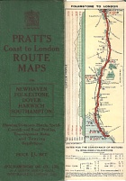 ca1908-12 Pratt's Route Maps of Coast to London