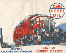 early 1930s Pratts Diesel map of Britain