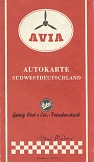 mid 1950s AVIA (Oest) map of SW Germany
