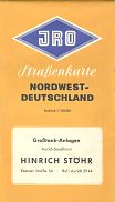 ca 1963 Hinrich Stoehr map of NW Germany