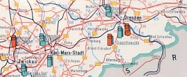 Extract from 1965 Intertank map of East Germany (DDR)