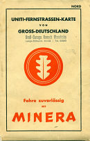 c1939 Uniti-Minera map of Germany