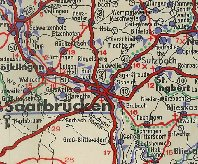 Road maps issued by Widenmeyer in the Saar