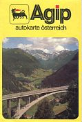 1978 Agip map of Austria