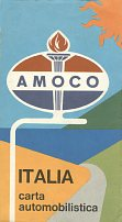 1964 Amoco map of Italy