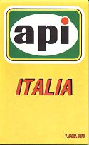 Front of 1993 API map of Italy