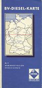 ca1953 BV diesel map of West Germany