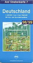 1998 Aral map 7 of Germany