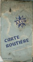 1952 Azur sheet map of France