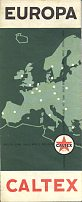 1960 Caltex map of Europe