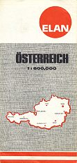 1973 Elan map map of Austria
