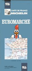 1976 Euromarche map of France