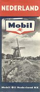 ca1962 Mobil map of Netherlands