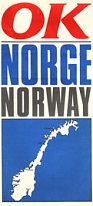 early 1970s OK map of Norway
