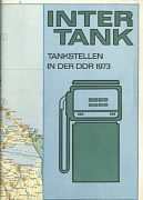 1973 Intertank map of East Germany (DDR)
