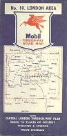 mid 50s Mobil map of London