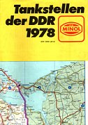 1978 Minol map of East Germany