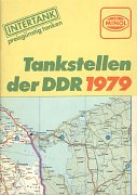 1979 Minol map of East Germany