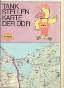 1980 Minol map of East Germany