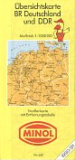 1990 Minol map of Germany