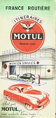 Carte routière Motul France de 1954
