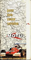 1970 Motul map booklet of France