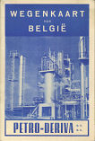 Front cover of ca1960 Petro Deriva map of Belgium