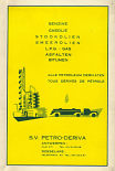 Rear cover of ca1960 Petro Deriva map of Belgium