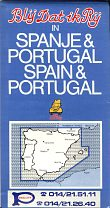 Pollet stickered map of Spain