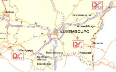 Luxembourg from the 2002 IDS (Q8) map of Belgium
