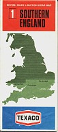 ca 1969 Texaco sectional map 1 of Great Britain