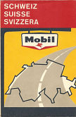 1960 Mobil map of Switzerland