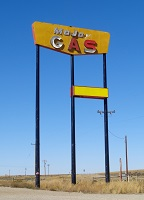 Abandoned Major Gas sign, Creston Jn, WY