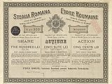 Steaua Romana share certificate from 1923